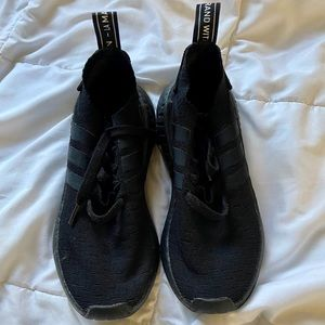 Adidas NMD All Black Sneakers Size 6 1/2